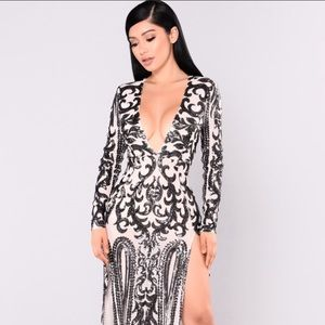 Queen of Spades sequin dress